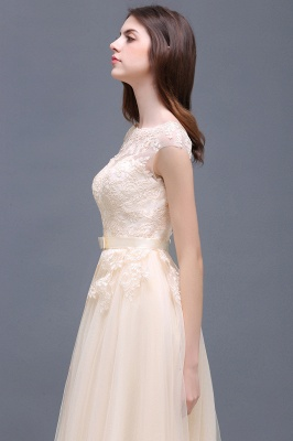 AUBREE | A-line Floor-Length Tulle Prom Dress With Lace Appliques_11