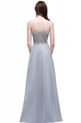 AUBRIELLA | A-line Floor Length Chiffon Prom Dress With Appliques_3