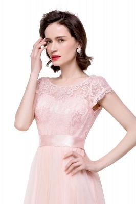 ELLIANA | A-line Short Sleeve Chiffon Bridesmaid Dresses with Ribbon Bow Sash_12