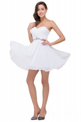 EMILEE | A-line Sweetheart Short Prom Dresses with Beadings_6