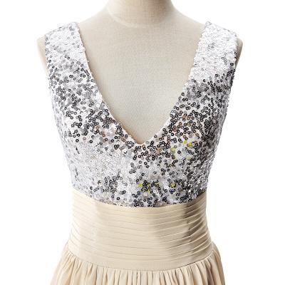 v neck prom dresses