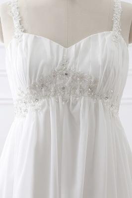 ALIVIA | Elegantes vestidos de novia de gasa de línea correas apliques con cordones vestidos de novia_4