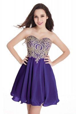 CYNTHIA   A-Line Strapless Short Chiffon Prom Dresses with Beadings_5