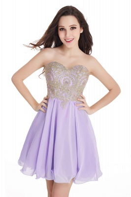 CYNTHIA   A-Line Strapless Short Chiffon Prom Dresses with Beadings_6