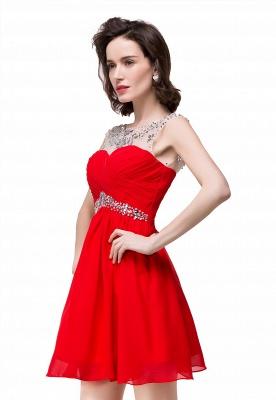 AITANA | A-Linie Juwel Chiffon Partykleid mit Kristall_2