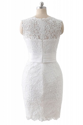 ALIYA   Sheath Scoop Lace Wedding Dresses with Detachable Skirt_6
