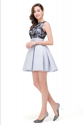 silver cocktail homecoming dresses