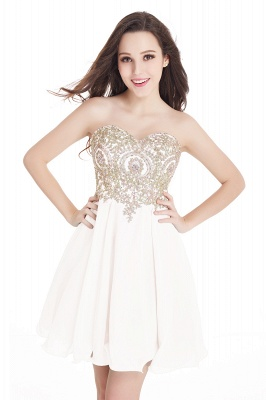 CYNTHIA   A-Line Strapless Short Chiffon Prom Dresses with Beadings_1