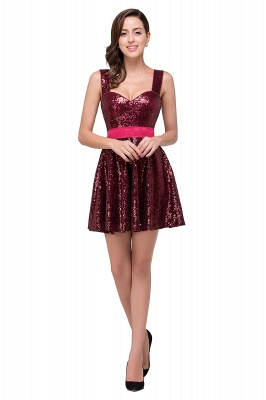 CHANA | A-line Sweetheart sequins  Prom Dress_2