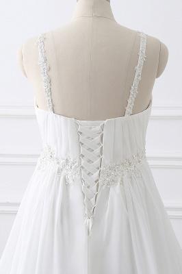 ALIVIA | Elegantes vestidos de novia de gasa de línea correas apliques con cordones vestidos de novia_5
