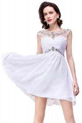AITANA | A-line Jewel Chiffon Party Dress With  Crystal_9