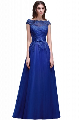 AUBREE | A-line Floor-Length Tulle Prom Dress With Lace Appliques_5