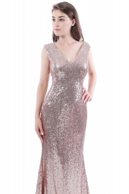 DAKOTA | Mermaid Floor Length V-Neck Long Sequins Prom Dresses_7