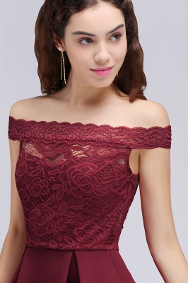 off the shoulder homecoming dresses