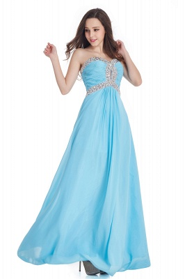 Crystals Strapless Sweetheart Prom Dresses