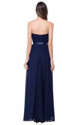 Elegantes A-Linie Chiffon Brautjungfer Kleid | Schulterfrei Brautjungfernkleider Bodenlang_6