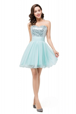 ESTELLA | A-line Sweetheart Sleeveless Chiffon Short Prom Dresses with Sequins_5