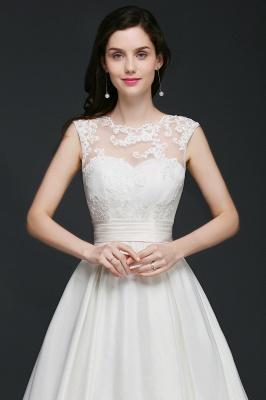 ELIZABETH | A-line Sleeveless Floor-length Chiffon Lace Wedding Dresses_4