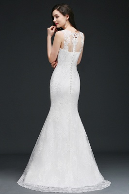 AMELIA   Mermaid Sweep Train Lace New Arrival Wedding Dresses with Buttons_3