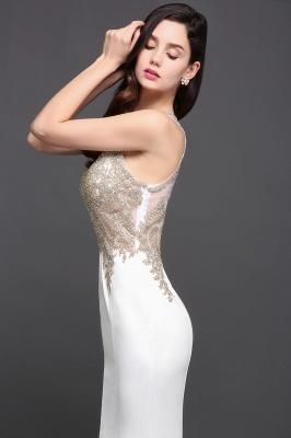 AVERIE   Mermaid Scoop en mousseline de soie élégante robe de bal avec des appliques_7