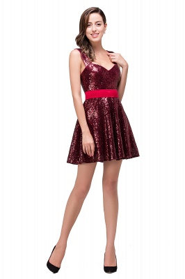 CHANA | A-line Sweetheart sequins  Prom Dress_7
