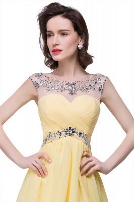 AITANA | A-line Jewel Chiffon Party Dress With  Crystal_3