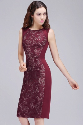 ALEENA | Mermaid Jewel Knee-Length Lace Homecoming Dresses_7