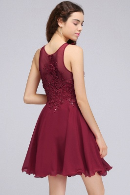A-line Sleeveless Homecoming Dresses