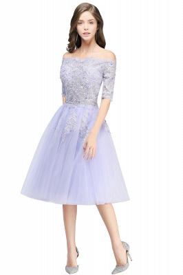ADILYNN | A-line Bateau Tulle Prom Dress with Appliques_1