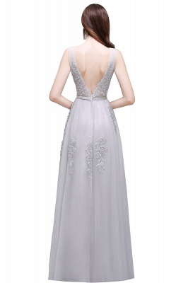 ADDYSON   A-line Floor-length Tulle Bridesmaid Dress with Appliques_11