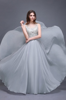 AUBRIELLA | A-line Floor Length Chiffon Prom Dress With Appliques_1