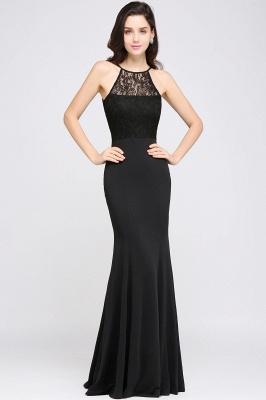 CHERISH   Mermaid Halter Floor-length Chiffon Black Prom Dress_2