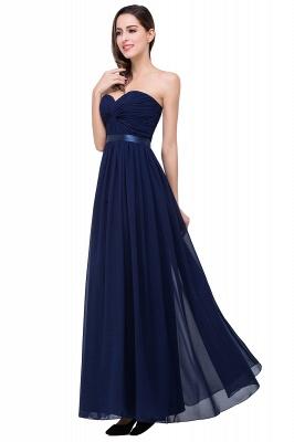 Elegantes A-Linie Chiffon Brautjungfer Kleid | Schulterfrei Brautjungfernkleider Bodenlang_8