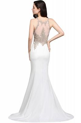 AVERIE   Mermaid Scoop en mousseline de soie élégante robe de bal avec des appliques_4