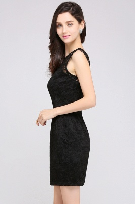 ARYA | Sheath Scoop Black Lace Homecoming Dresses_6