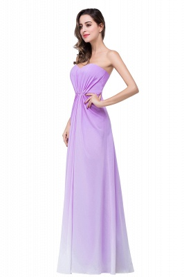 ADRIENNE | A-line Strapless Chiffon Bridesmaid Dress_7