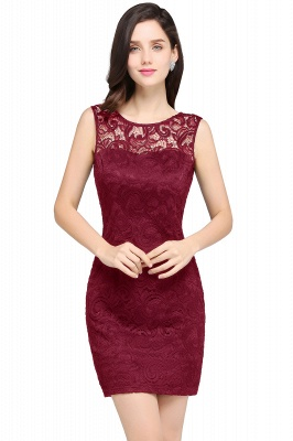 ARYA | Sheath Scoop Black Lace Homecoming Dresses_1