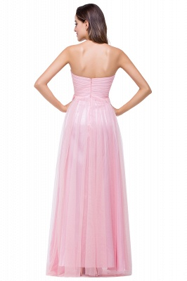ADRIANNA | A-line Sweetheart Tulle Bridesmaid Dress with Draped_3
