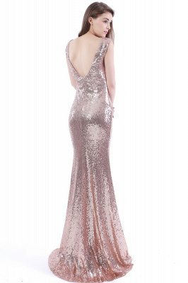 DAKOTA | Mermaid Floor Length V-Neck Long Sequins Prom Dresses_3