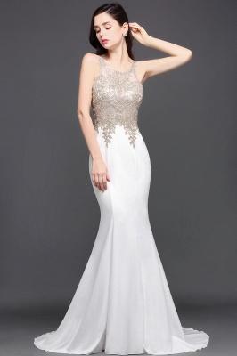 AVERIE   Mermaid Scoop en mousseline de soie élégante robe de bal avec des appliques_5
