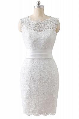 ALIYA   Sheath Scoop Lace Wedding Dresses with Detachable Skirt_1