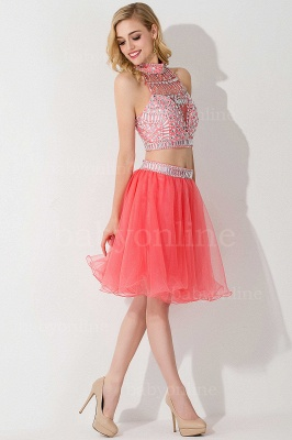 ELISE | Two-piece Halter Sleeveless Short Tulle Prom Dresses with Crystal Beads_15