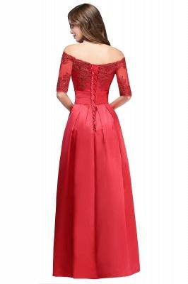 Une ligne de demoiselle d'épaule à l'épaule lacets appliques robes de soirée_6