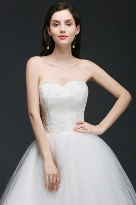ANNE | A-line Hi-Lo Tulle Wedding Dress With Lace_6