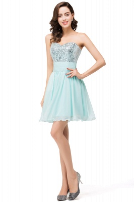 ESTELLA | A-line Sweetheart Sleeveless Chiffon Short Prom Dresses with Sequins_4