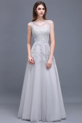 ADDILYN   A-line Floor-length Tulle Prom Dress with Appliques_7