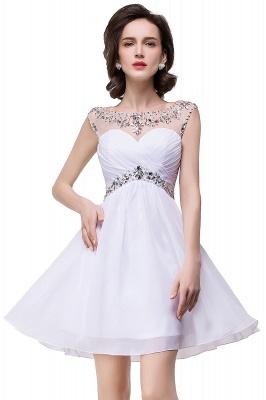 AITANA | A-line Jewel Chiffon Party Dress With  Crystal_11