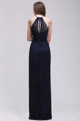 Pretty Floor longueur bleu marine Halter dentelle robe de bal_7