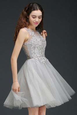 ANNA | A-line Short Modern Homecoming Dress With Lace Appliques_5