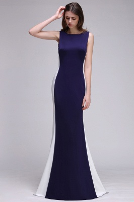 CAMILA | Mermaid Long Dark Navy Simple Prom Gowns_4